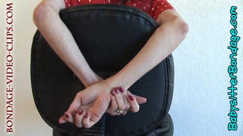 natasha flade teacher fantasy chair tied OTM gagged