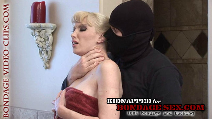 Blonde Natalie Minx Handgagged In Shower, Double Gagged & Tied Bent Over for Naked Doggy Style Bondage Sex!