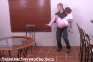 Young Redhead Enid Carried In Bound, Chair-Tied Barefoot in Her T-Shirt and Stripped Topless