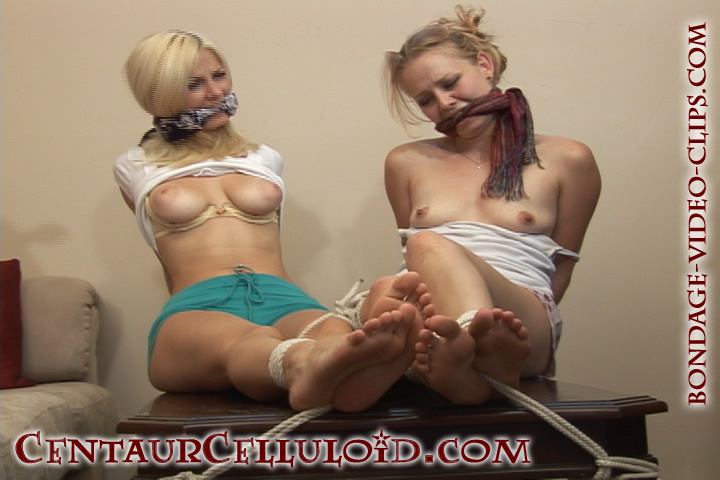 Roped Gagged Strpped Video