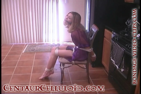 chloe night damsel chairtied cleave gagged barefoot