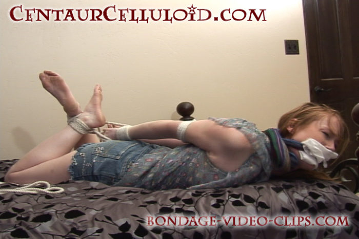ariella redhead barefoot hogtied gagged topless handgagged stripped