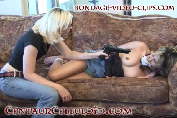 Smokin' Hot Latina Breanna Barefoot, Hogtied, Gagged, Stripped by Chloe Night!