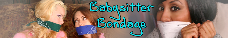 Hot Moms and Babysitters Playing Tied Up Games at Babysitter Bondage.com