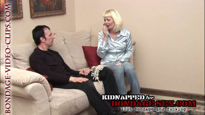 Blonde Chloe Night Ruins Everything and Gets Tied Up, Gagged for Bondage Sex Movie!