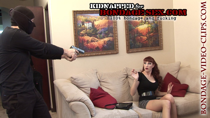 Natalie Minx Tied Up, Cleave Gagged and Pantyhose Ripped for Bondage Sex