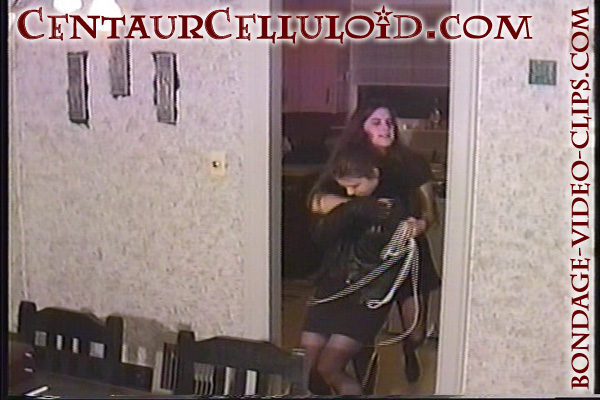 Celeste St. Germain Chairtied, Cleave Gagged in Black Stockings!