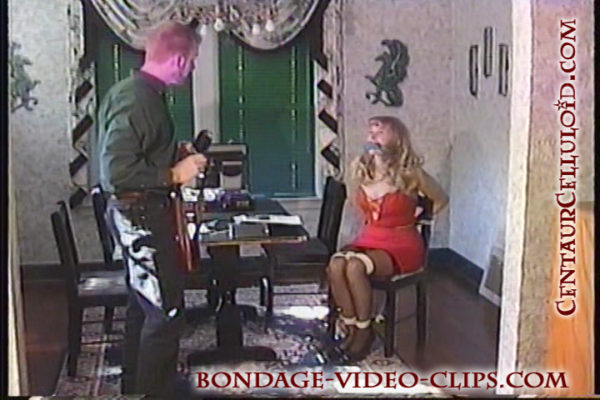 Nicolette in High Heels Chairtied & Cleave Gagged in Bondage Model Interview