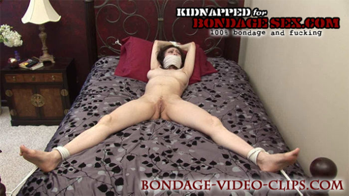 Natasha Flade Tied Up Nude Spread Eagle and Wrap Gagged with Ace Bandage for Bondage Sex