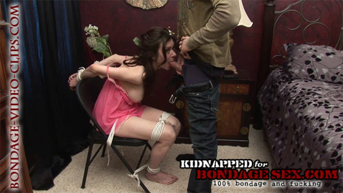 Natasha Flade Kidnapped for Ransom, Chairtied for a Bondage Blowjob