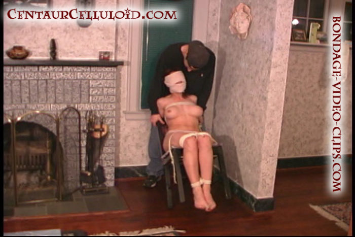 Natasha Flade Makes a Bondage Escape Attempt With Toes Tied & Head Ace Bandage Wrapped